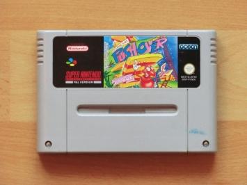 Pushover Super Nintendo SNES Puzzle