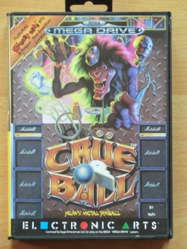 Crüe Ball Mega Drive Pinball Flipper