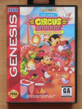 The Great Circus Mystery Starring Mickey & Minnie mega Drive Jump and Run