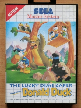 Donald Duck The lucky Dime Caper Master System Jump and Run