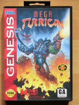 Mega Turrican Mega Drive Run and Gun