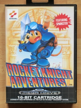 Rocket Knight Adventures Sparkster Mega Drive Jump and Run