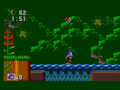Sonic the Hedgehog SEGA Master System Jump and Run Jungle Stage 3