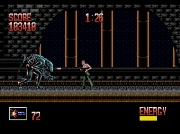Alien 3 Mega Drive Boss Action Screenshot