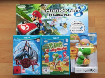 Wii U Premum Pack Byonetta Yoshis Woolly World Woll Yoshi amiibo
