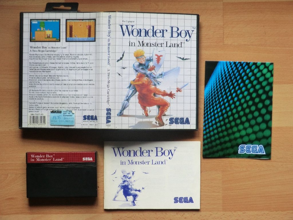 Wonder Boy in Monster Land Master System Action Adventure