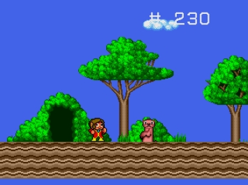 Alex Kidd enchanted castle mega drive jump and run Screenshot