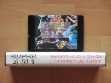Super 4 in 1 Mega Drive Multicart Bootleg