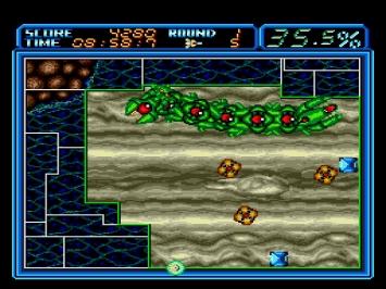 Ultimate Qix Volfied Mega Drive Screenshot