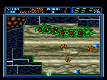Ultimate Qix Volfied Mega Drive Screenshot