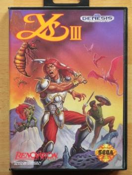 Ys III 3 Mega Drive RPG