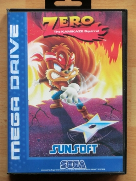 Zero The Kamikaze Squirrel Mega Drive Jump and Run