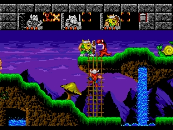 Lost Vikings Mega Drive Puzzle Screenshot