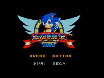 Sonic the Hedgehog SEGA Master System Jump and Run