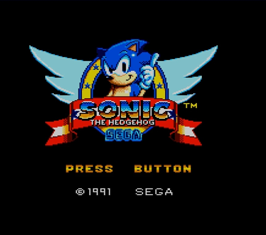 Sonic the Hedgehog SEGA Master System Jump and Run