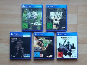 Sony PS4 Games Gravity Rush Kholat REZ Infinite Town of Light Outlast Trinity