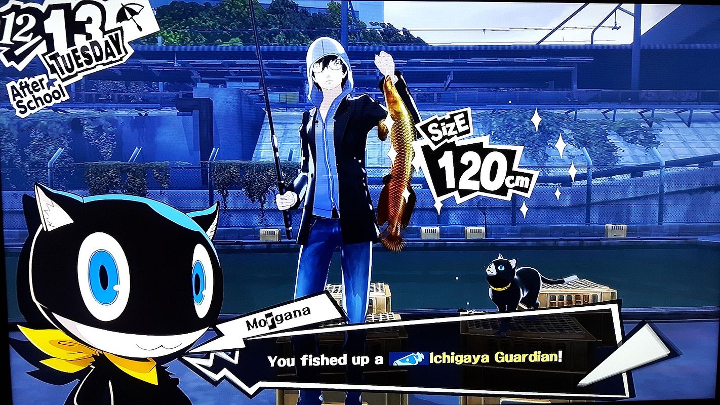 Persona 5 PS4 playstation 4 RPG ichigaya guardian fishing pond