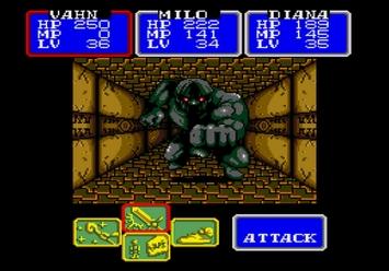 Shining in the Darkness SEGA Mega Drive RPG Bildblok Boss Level 3
