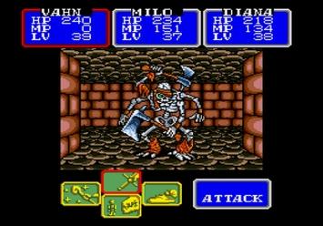 Shining in the Darkness SEGA Mega Drive RPG Blackbone Boss Level 3