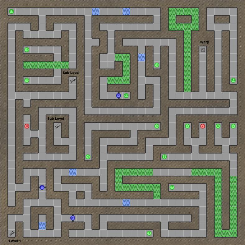 Shining in the Darkness SEGA Mega Drive RPG Walkthrough Lösung Map Cave of Courage
