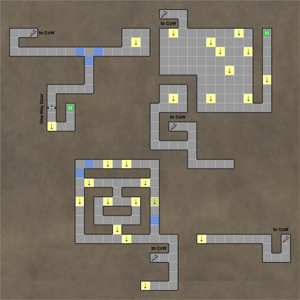 Shining in the Darkness SEGA Mega Drive RPG Walkthrough Lösung Map Cave of Wisdom Sub Level