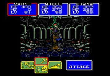 Shining in the Darkness SEGA Mega Drive RPG Boss Dark Sol First Form Level 5