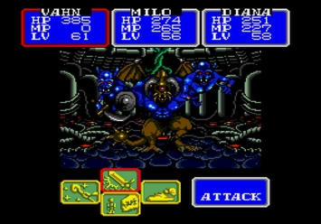 Shining in the Darkness SEGA Mega Drive RPG Boss Dark Sol Second Form Level 5