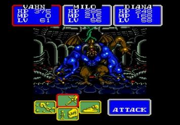 Shining in the Darkness SEGA Mega Drive RPG Boss Dark Sol Third Form Level 5