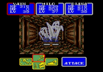Shining in the Darkness SEGA Mega Drive RPG Ghost Boss Cave of Truth