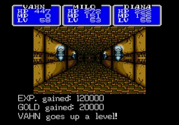 Shining in the Darkness SEGA Mega Drive RPG XP trick cheat Level 5