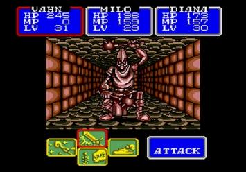 Shining in the Darkness SEGA Mega Drive RPG Boss Guardian Level 4