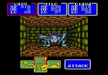Shining in the Darkness SEGA Mega Drive RPG Kaiserkrab Boss Level 1