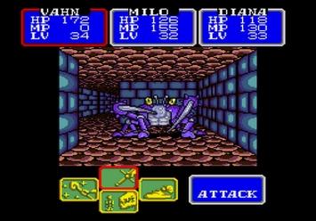 Shining in the Darkness SEGA Mega Drive RPG Scizzar Boss Level 3