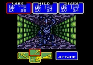 Shining in the Darkness SEGA Mega Drive RPG Sentinel Boss Level 2