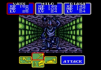 Shining in the Darkness SEGA Mega Drive RPG Sentinel Boss Level 2
