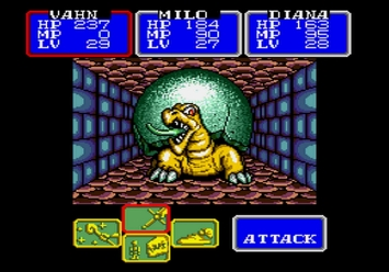 Shining in the Darkness SEGA Mega Drive RPG Shellbeast Boss Level 3