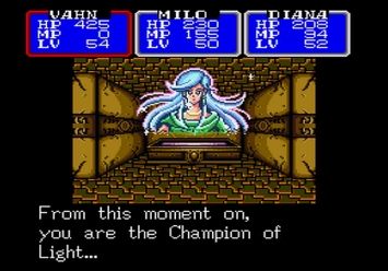 Shining in the Darkness SEGA Mega Drive RPG Spirit Fountain Level 5