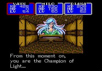 Shining in the Darkness SEGA Mega Drive RPG Spirit Fountain Level 5