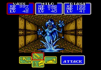 Shining in the Darkness SEGA Mega Drive RPG Boss Syren Level 5