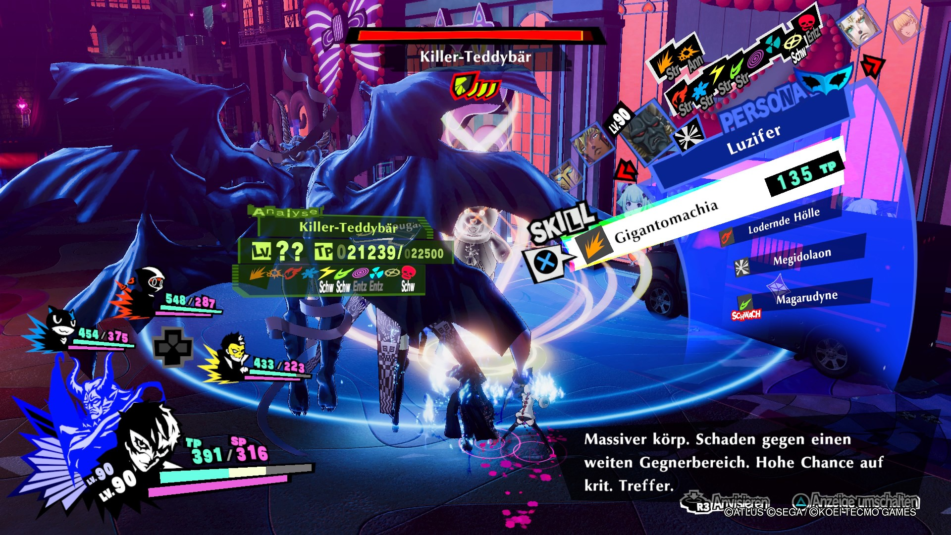 Persona 5 Strikers Dire Shadow Düstershatten Shibuya PS4 RPG JRPG Guide