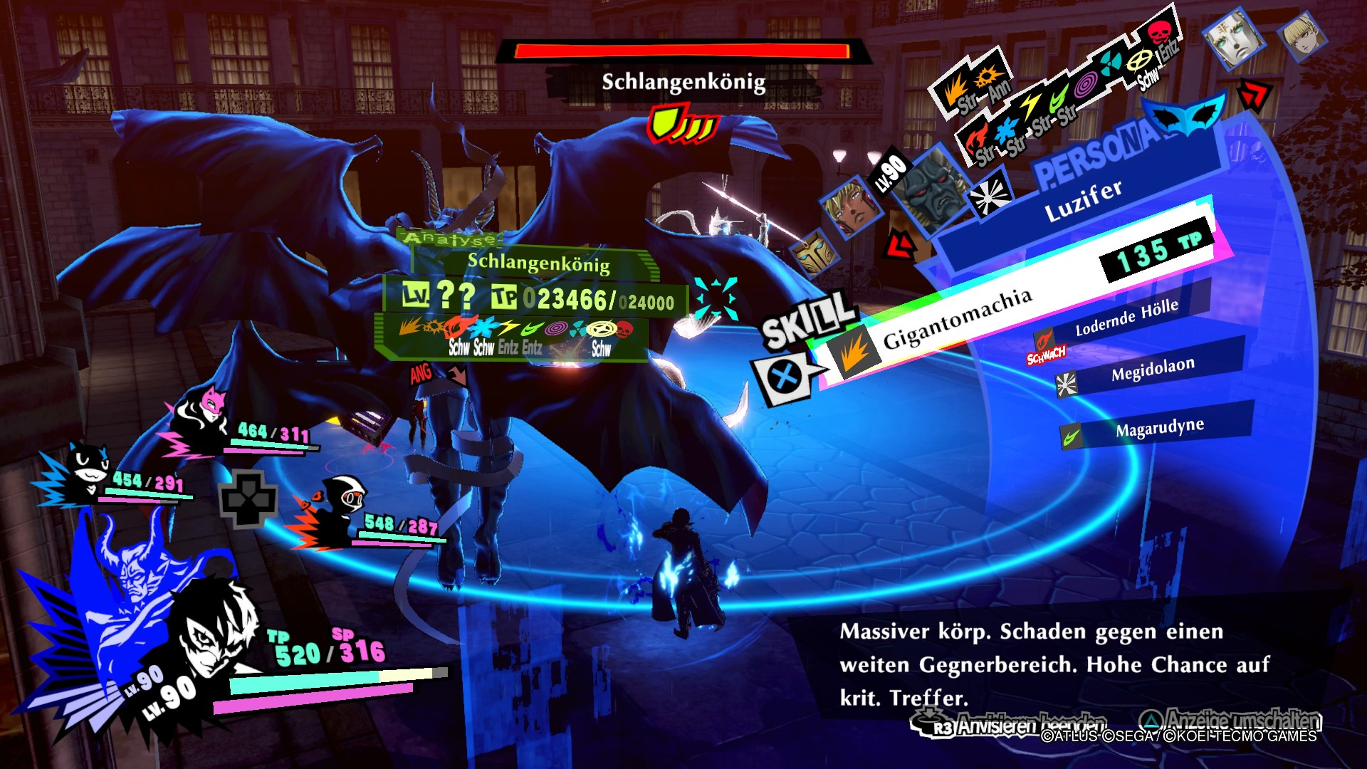 Persona 5 Strikers Dire Shadow Düstershatten Sendai PS4 RPG JRPG Guide Schlangenkönig