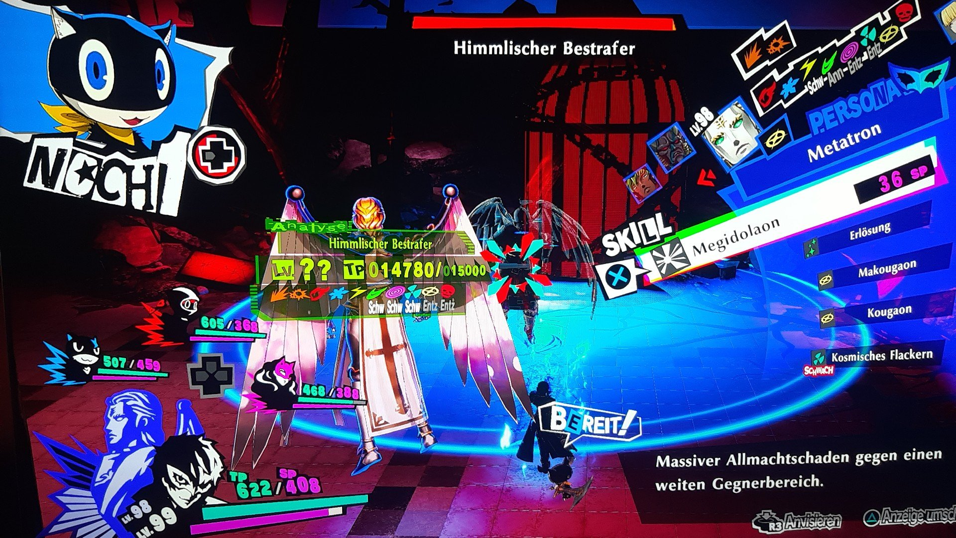 Persona 5 Strikers Dire Shadow Düstershatten Baum des Wissens PS4 RPG JRPG Guide Himmlicher Bestrafer